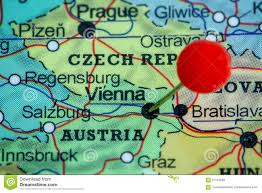 map of vienna pin on a map of vienna stock photo image 57110593