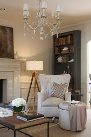 tripod floor lamp living room shabby chic with chandelier gray