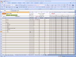 Pto Spreadsheet Template Excel Spreadsheet Construction Schedule Template