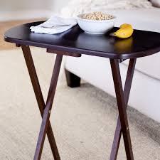 winsome 5 pc oblong tv table set walnut finish hayneedle