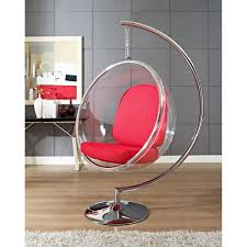 baby nursery modern hanging bubble chaise chair chrome polished