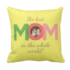 Customized Cushion Covers Personalized The Best Mom In The World Double Side Printed Cushion