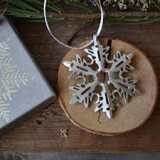pewter snowflake ornament 3 davallia