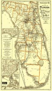 Map Of Ocala Fl Old Railroad Map Jacksonville Tampa And Key West 1891