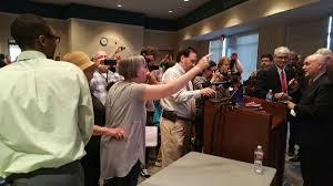 senator cassidy meets vocal protesters at town hall wwltv com