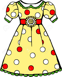 yellow polka dot dress royalty free cliparts vectors and stock