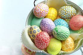 Decorate Easter Eggs Decorate Easter Eggs With Colorful Washi Paper Birds And Blooms