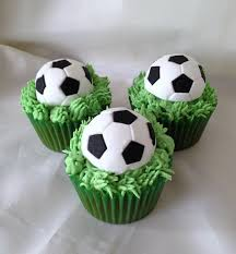 football cupcakes easy green velvet football cupcakes for 2014 fifa world cup diy