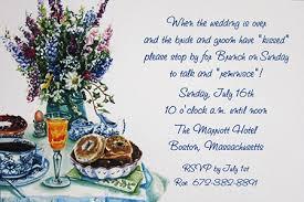 morning after wedding brunch invitation wording post wedding brunch invitations day after wedding brunch