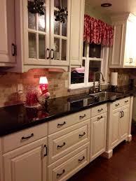 Black Countertop Kitchen Kitchen Amusing Off White Kitchen Cabinets With Black