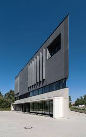 easst com office building in the shape of the triangle located