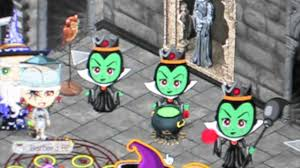 yoville animated new witch and frog prince and all the halloween