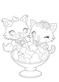 pets from jewelpet anime coloring pages for kids printable free