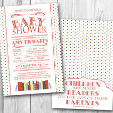 book themed baby shower invitations dancemomsinfo com