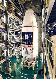soyuz soars into space with two galileo navigation satellites