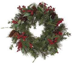 solar powered 24 prelit winterberry wreath page 1 qvc