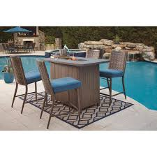 Folding Bar Table Outdoor Outdoor Bar Table W Fire Pit By Signature Design By Ashley Wolf