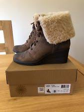 s ugg australia brown zea boots ugg australia lace up ankle boots for ebay