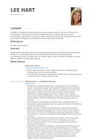 associate editor resume samples visualcv resume samples database