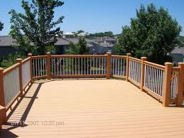Backyard Decks Images by Patio U0026 Outdoor Coastal Cedar Veranda Decking With Railing