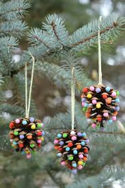 pom poms and pinecones ornaments pinecone ornament
