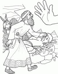 the most amazing and stunning abraham and isaac coloring page