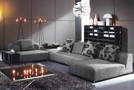 designing and decorating the stylish gray living room with some