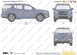 chevrolet trailblazer 2016 the blueprints com vector drawing chevrolet trailblazer