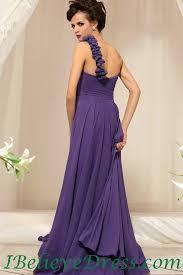 flower one shoulder purple full length evening dress patterns 2013