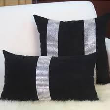 coussin decoration canapé luxe classique mode housse de coussin strass décoration canapé