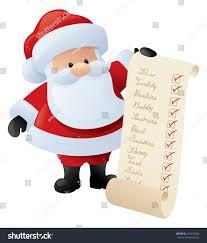 santa holds list good kids who stock vector 218115646 shutterstock