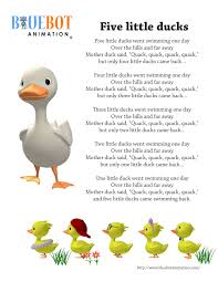 ducks 5 ducks nursery rhyme lyrics free