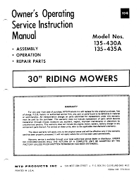 mtd lawn mower 135 435a user guide manualsonline com