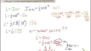 calculating angular momentum and torque