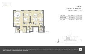 views 2 by emaar 3 bedroom unit 07 floor plan