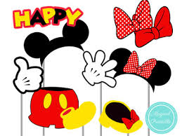 mickey mouse photo booth mickey mouse and minnie mouse photo booth props printable props