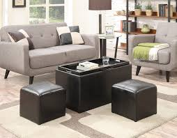 Leather Ottomans Coffee Tables by Living Room Brown Leather Ottoman With Leather Ottoman Coffee