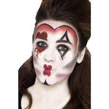 ladies white queen of hearts halloween make up kit 44409