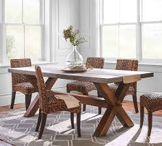 rectangle kitchen table and chairs abbott rectangular dining table pottery barn