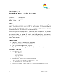 Sample Resume Job Descriptions by Simple Architect Job Description Resume Xpertresumes Com