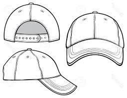 hd baseball cap vector template image free vector art images