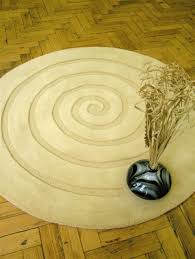Yellow Circle Rug Spiral Beige Gold Round Rug Apple Rugs Buy Rugs Online In The Uk