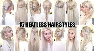 heatless hairstyles for thin hair 15 braided back to school heatless hairstyles