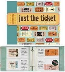ticket stub album just the ticket stub organizer 2 ring refillable hello traveler