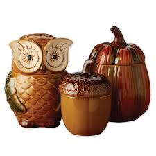 Owl Canisters For The Kitchen Wholesale Autumn Canisters U2013 Dii Design Imports