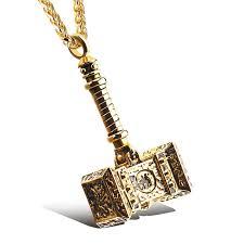 thor ragnarok 2017 hammer pendant necklace stainless steel vintage
