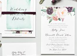 wedding invitations new york york city inspired floral watercolor wedding invitations