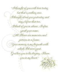in memory of wedding program wedding remembrance poems