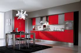 Red Color Kitchen Walls - red kitchens