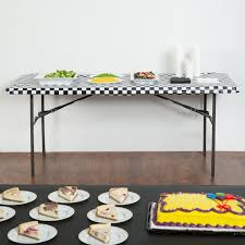 stay put table covers converting 37497 stay put 29 x 72 black check plastic table cover